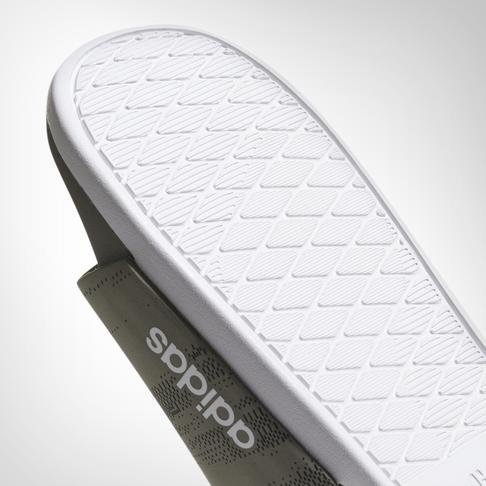 low priced c47d8 ce390 Mens adidas Adilette Cloudfoam + Khaki Slide
