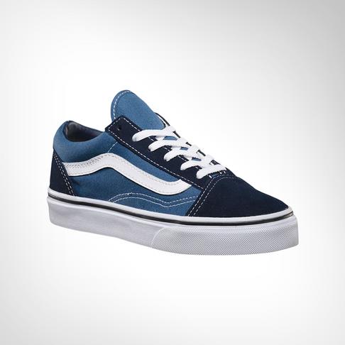 23e2f001 Junior Grade School Vans Old Skool Navy/White Shoe