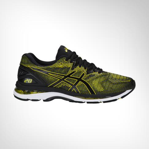 Men s Asics Gel Nimbus 20 Yellow Black Shoe 1c27f7cf183c