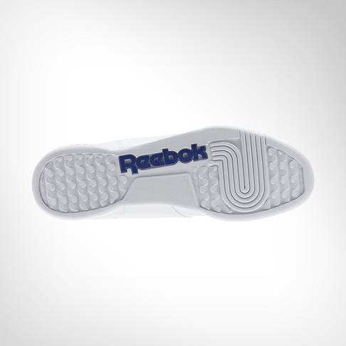c717646db61 Men s Reebok Workout Plus White Blue Shoe