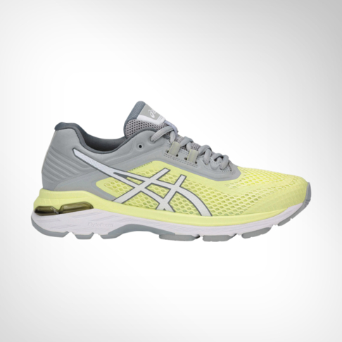 67141ec6f5 Women's Asics GT2000 6 Yellow/Grey Shoe