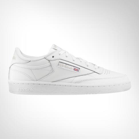 new product fc2b7 ff121 Women s Reebok Club C 85 Leather White Shoe