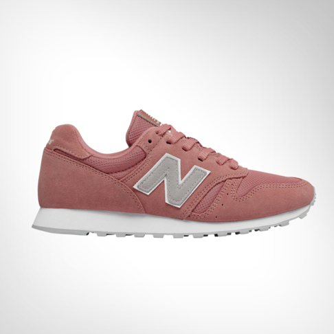 check out ce211 44b42 Women's New Balance WL373 Pink Suede Shoe