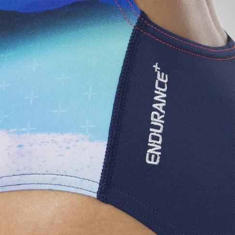 ebac2744a5 Women s Speedo Solar Surface Powerback Navy Red Swimsuit