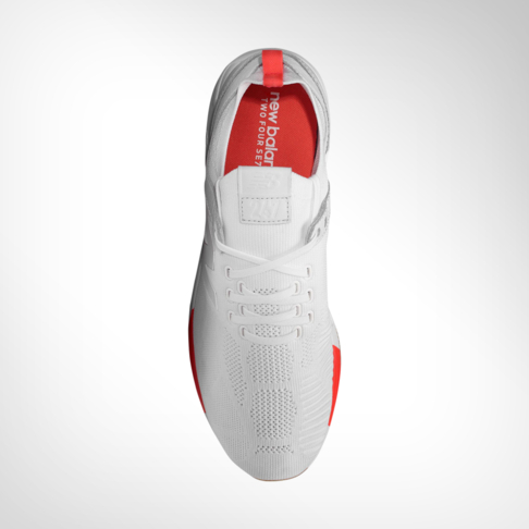 5fa418a442897 Men's New Balance 247 Tournament White/Red Shoe