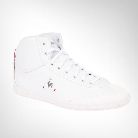 ec2a33589e45 Men s Le Coq Sportif Provencale II Mid Craft PU White Shoe