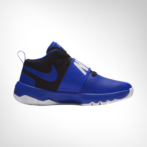 e79acdf98035 Junior Grade School Nike Team Hustle D8 Blue Black Shoe