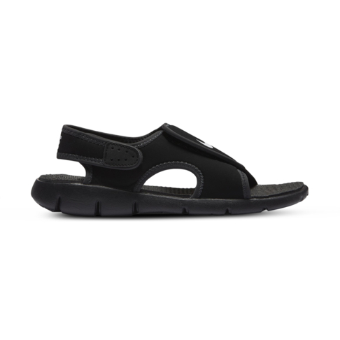 d38715f20 Junior Grade School Nike Sunray Adjust Black White Sandal