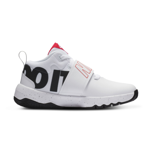 20143ccdde28 Junior Grade School Nike Team Hustle D8 JDI White Black Red Shoe