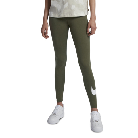 a601a0d1fca064 Women s Nike Sportswear Club Logo Olive Long Tights