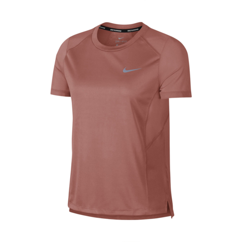 new product a26c7 d725d Women s Nike Miler Short-Sleeve Rust Pink Running Top