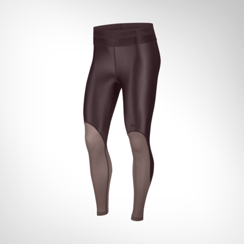 3d5f073a3ced9 Women's Nike Pro HyperCool Glamour Burgundy Tights