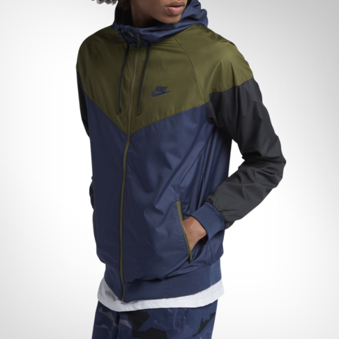 f5b6e22174 Men s Nike Sportswear Windrunner Navy Olive Jacket