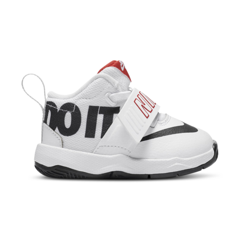 bd66e8ca1586 Infants  Nike Team Hustle D8 White Black Red Shoe