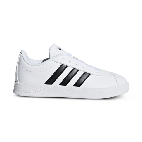 new arrivals 9a264 e4f51 Junior Grade School adidas VL Court 2.0 WhiteBlack Shoe