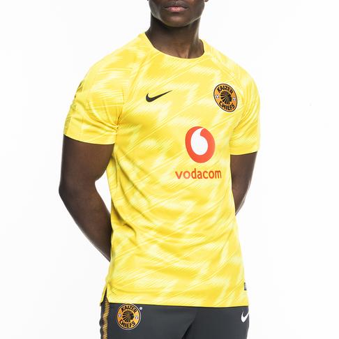 7e112d76b Men s Nike Kaizer Chiefs 2018 19 Yellow Squad Top