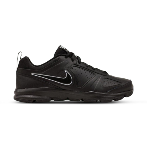 timeless design 15df9 ddef2 Men s Nike T-Lite XI Leather Black Silver Shoe