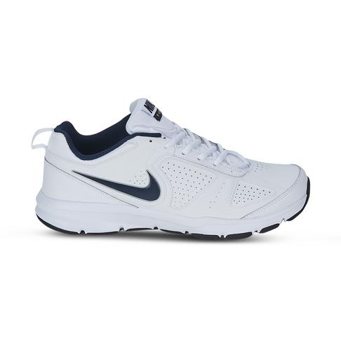 Men S Nike T Lite Xl Leather White Navy Shoe
