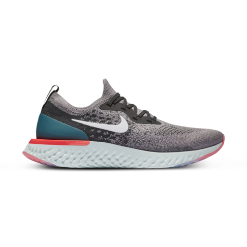 d7a8178bb10e Men s Nike Epic React Flyknit Grey Black Shoe