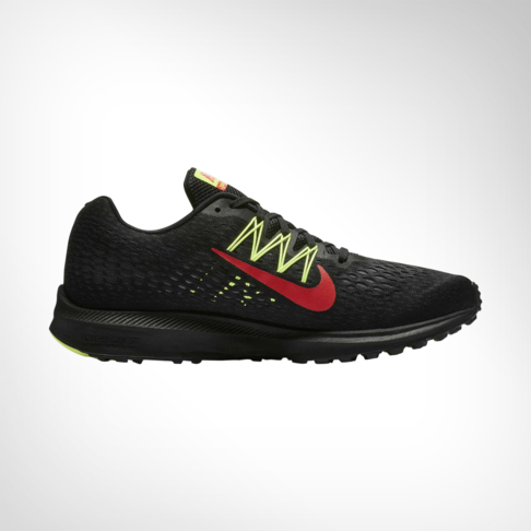 hot sale online 15a33 cc1ca Men's Nike Zoom Winflo 5 Black/Volt/Red Shoe
