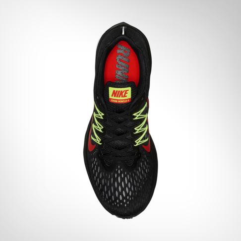 hot sale online 709c3 1076f Men's Nike Zoom Winflo 5 Black/Volt/Red Shoe