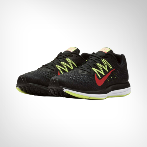 hot sale online ff6f6 a56af Men's Nike Zoom Winflo 5 Black/Volt/Red Shoe