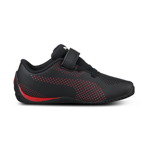 081c37df1 Junior Pre-School Puma Ferrari Drift Cat 5 Ultra Black Red Shoe