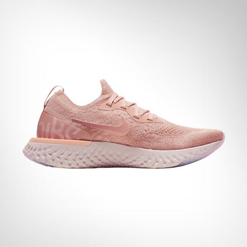 3f01d7b45ef Women s Nike Epic React Flyknit Pink White Shoe