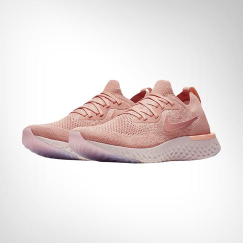 b91efb5898a5 Women s Nike Epic React Flyknit Pink White Shoe