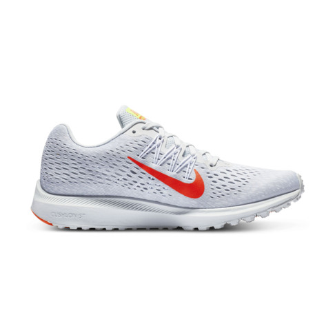 bae4b126f3fa7 Women s Nike Zoom Winflo 5 Grey White Red Shoe