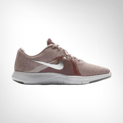 a4e4b2f4239d2 Women s Nike Flex Trainer 8 Pink Silver Shoe