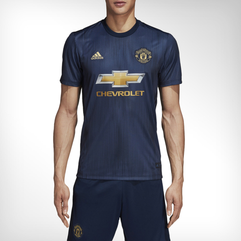 check out 3218a 02887 Men's adidas Manchester United Replica Third Jersey