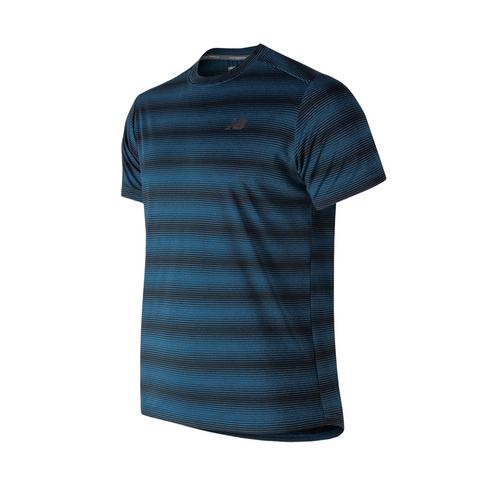 5155ee7ebdfee Men's New Balance Stripe Blue/Grey Tee