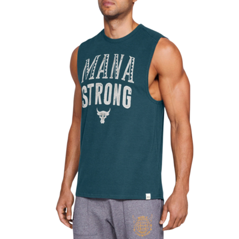 ed169d1bc14699 Men s Under Armour Project Rock Mana Strong Navy Tank