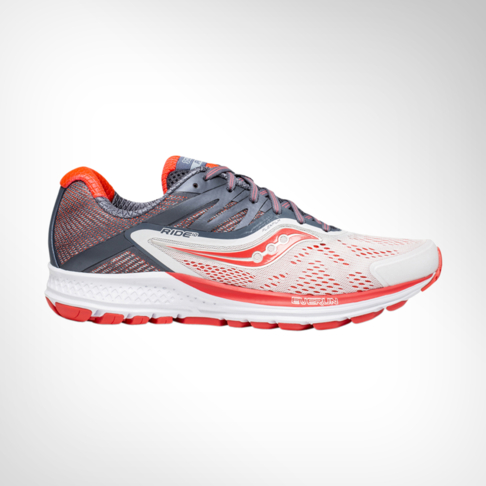 a339a4017b Women's Saucony Ride 10 White/Red/Grey Shoe