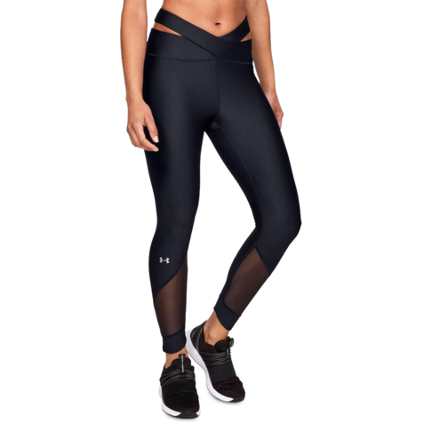 919f2a70b6270 Women's Under Armour HG Fashion Black Ankle Crop Tights