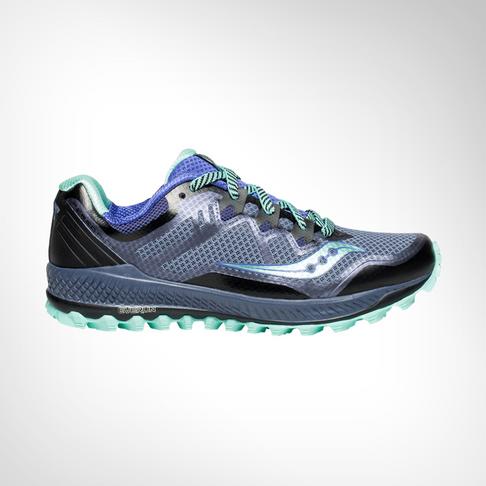 5d3a2b144db Women s Saucony Peregrine 8 Grey Violet Aqua Shoe