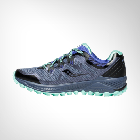 the best attitude 5ff4d 54cf1 Women's Saucony Peregrine 8 Grey/Violet/Aqua Shoe