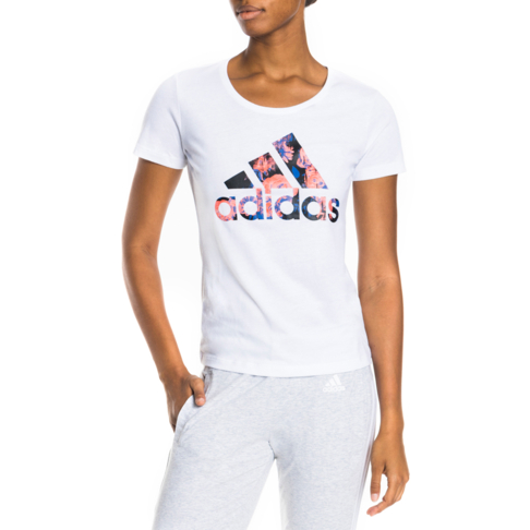 8e613f5ccbd9 Women's adidas Badge of Sport White Floral Tee