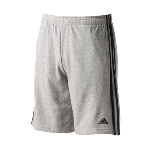 8af2d7739 Men s adidas Essentials 3-stripes Grey Fleece Shorts