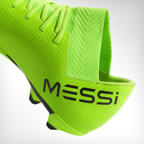 78e33da7fc68 Junior adidas Nemeziz Messi 18.3 FG Green Black Red Boot
