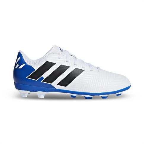 3fcea68db Junior adidas Nemeziz Messi 18.4 FG White/Blue Boot