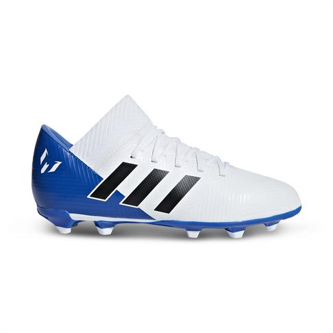 a26c25dfd094 Junior adidas Nemeziz Messi 18.3 FG White/Blue Boot