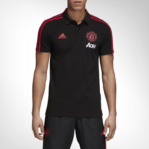 0d5e9bbf1 Men s adidas Manchester United Black Red Polo Shirt