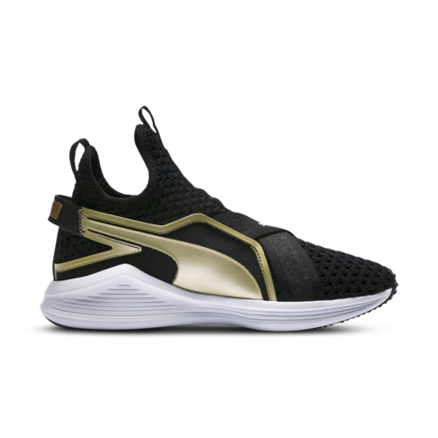 regard détaillé 21550 30657 Women's Puma Fierce Sleek Varsity Black/Gold Shoe