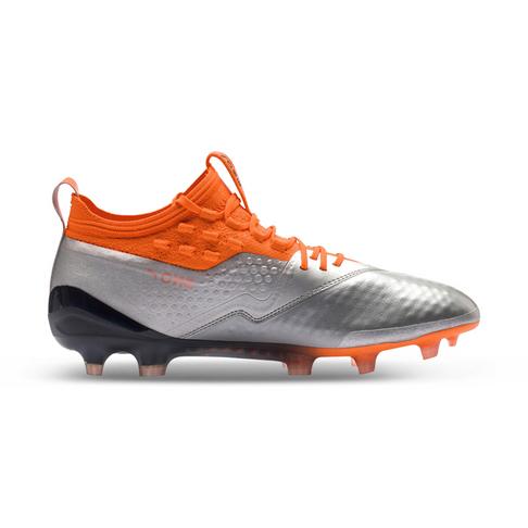 ba246f77a05c Men's Puma One 1 Leather FG Silver/Orange/Black