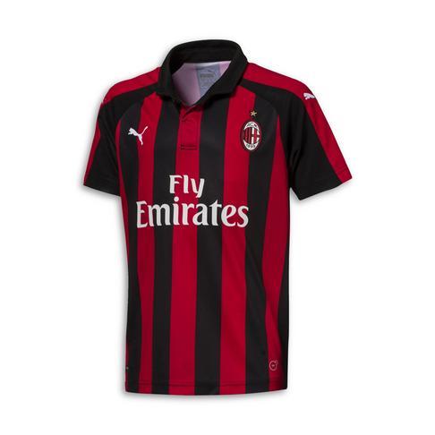 premium selection a0b6c aea25 Junior Puma AC Milan Home 2018/19 Replica Jersey