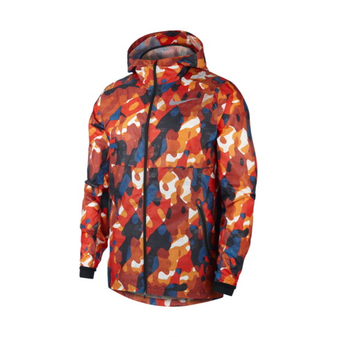 588604aa5189 Men s Nike Shield Flash Orange Red Camo Jacket