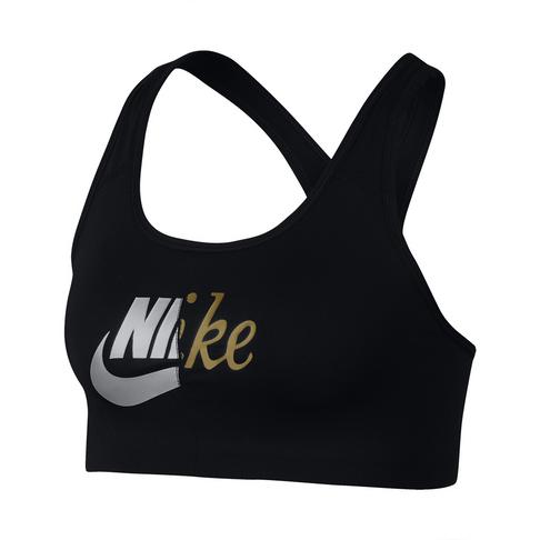 815457dd Nike Swoosh Medium Support Metallic Sports Bra