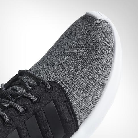 low priced f2fc0 c7236 Women s adidas CloudFoam QT Racer Black White Shoe